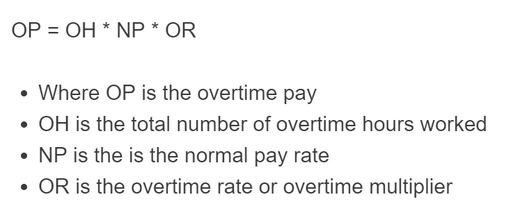 overtime pay formula