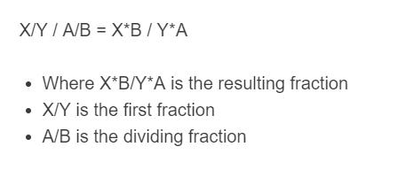 fraction division formula