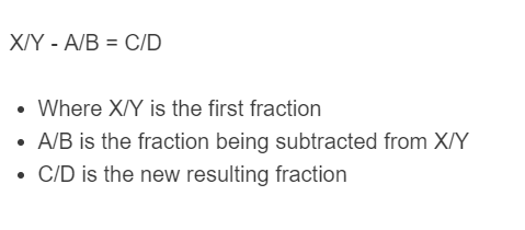 fraction subtraction formula