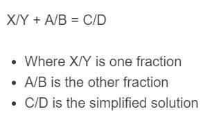 fraction addition formula