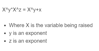 multiplying exponents formula