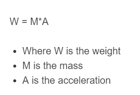 mass to weight formula