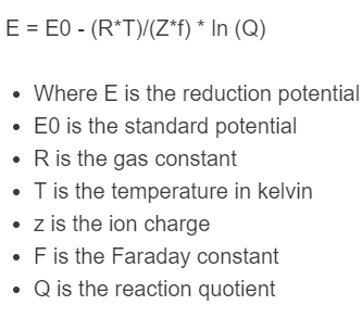 nernst equation formula