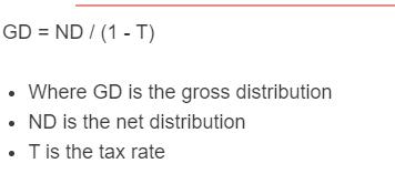 gross distribution formula