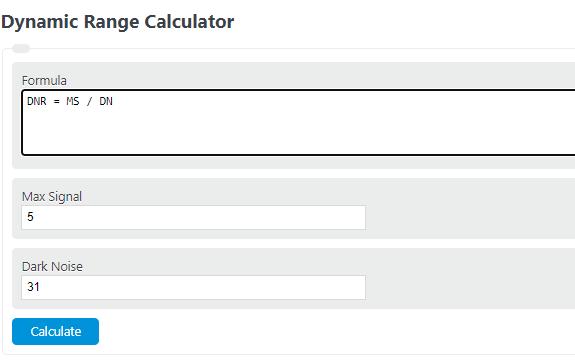 dynamic range calculator