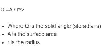 solid angle formula