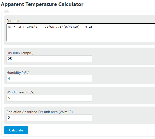apparent temperature calculator