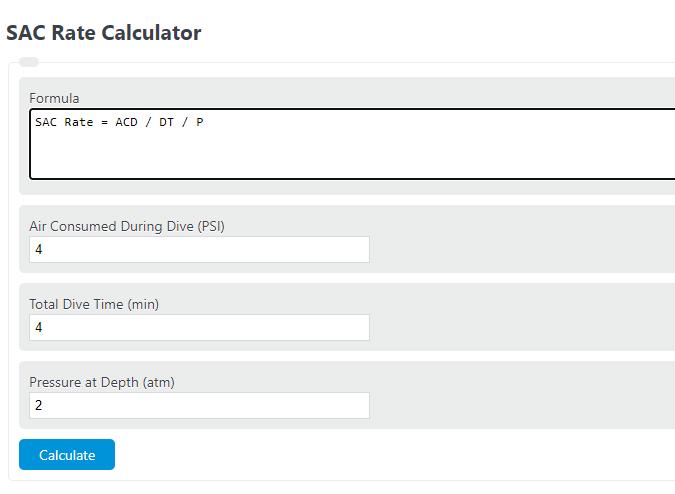 sac rate calculator