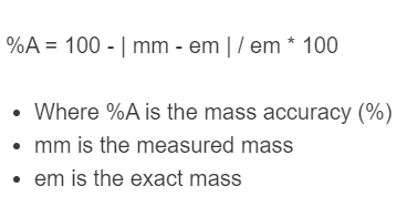 mass accuracy formula