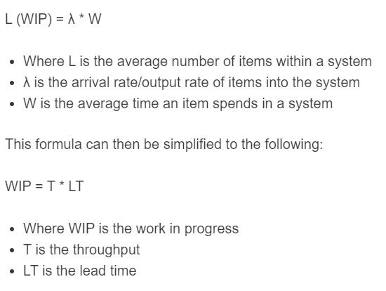 little's law formula