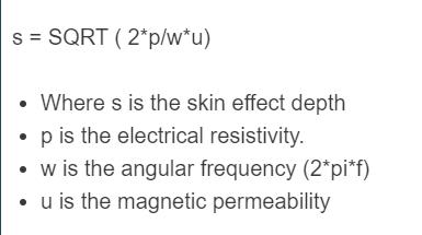 skin effect formula