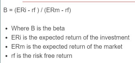 capm beta formula