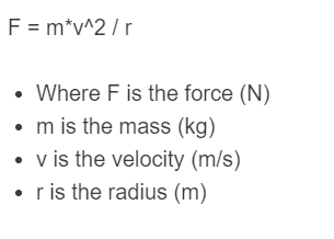 angular force formula