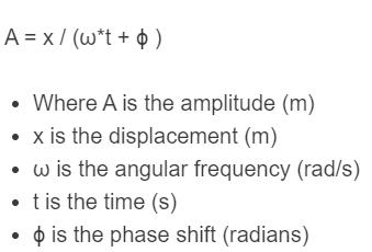 wave amplitude formula