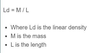 linear density formula