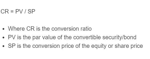 conversion ratio formula