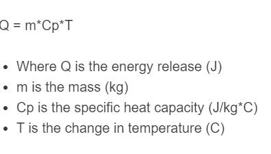 energy release formula