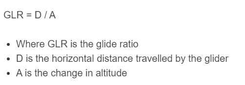 glide ratio formula