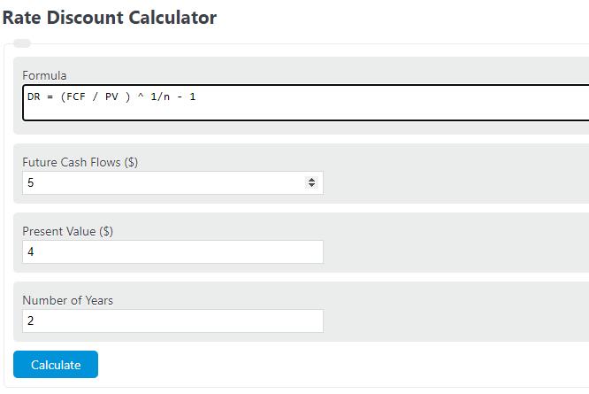 rate discount calculator