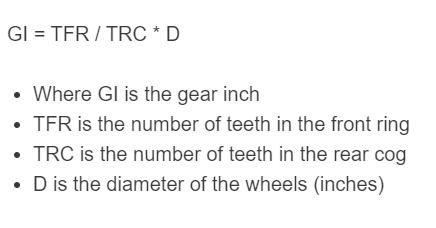 gear inch formula