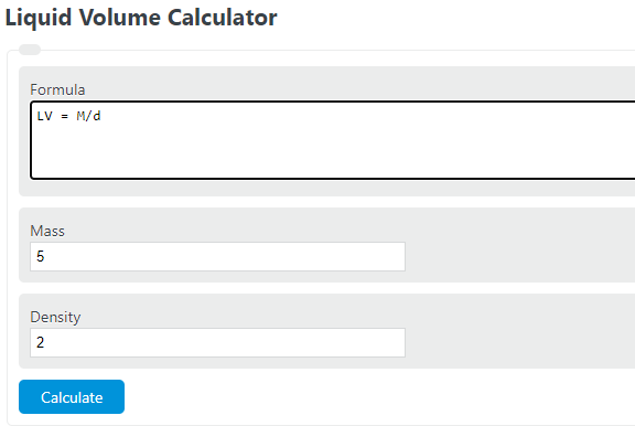 liquid volume calculator