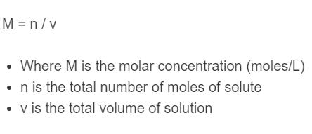 molar concentration formula