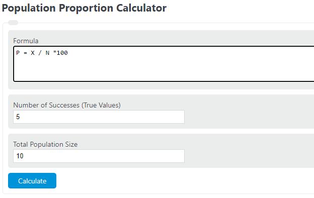 population proportion calculator