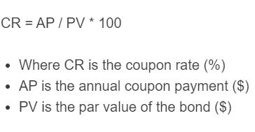 coupon rate formula