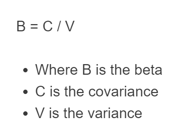 beta portfolio formula