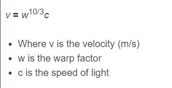 warp speed formula