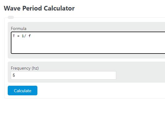 wave period calculator