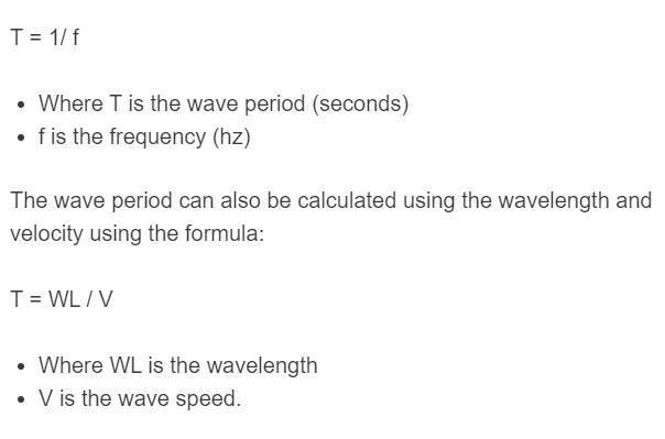 wave period formula