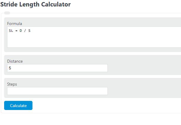 stride length calculator