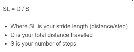 stride length formula