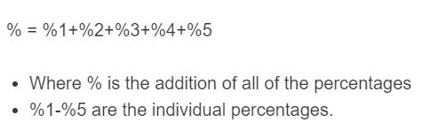adding percentages formula
