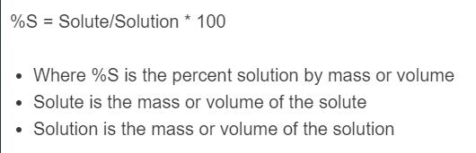 percent solution formula