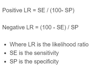 likelihood ratio formula