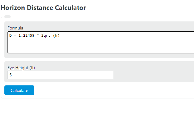 horizon distance calculator