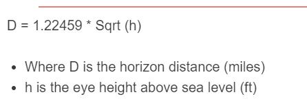 horizon distance formula