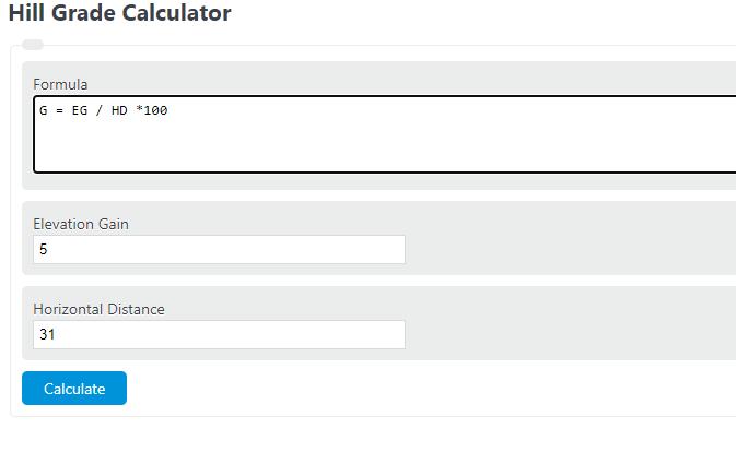 hill grade calculator