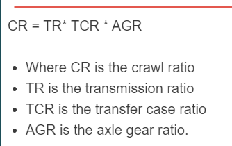 crawl ratio formula