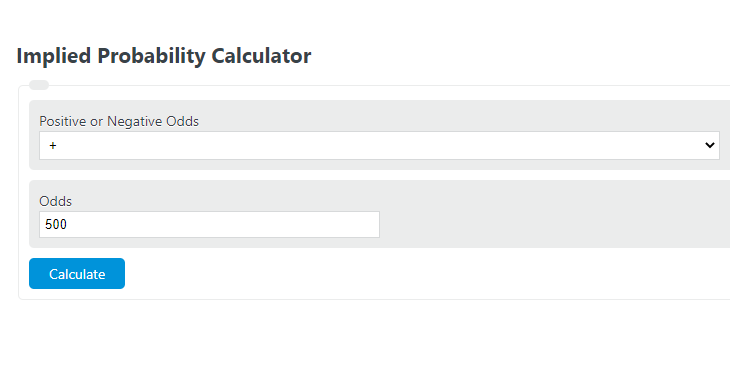 implied probability calculator