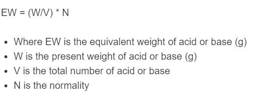neutralization reaction formula