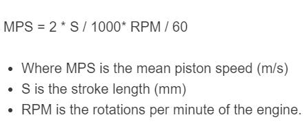 piston speed formula
