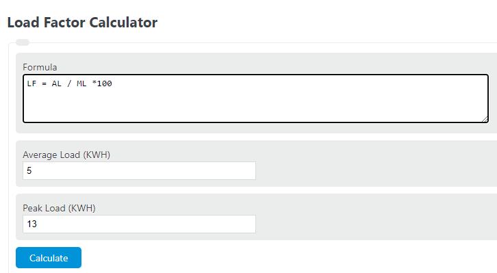 load factor calculator