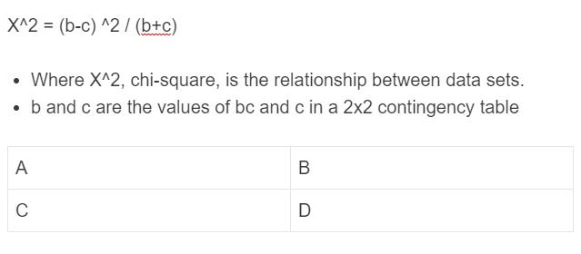 mcnemar test formula