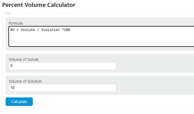 percent volume calculator