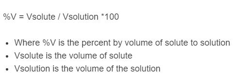 percent volume formula