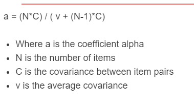 cronbach alpha formula