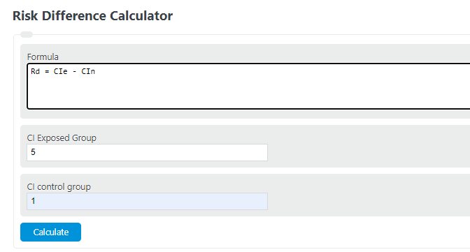 risk difference calculator